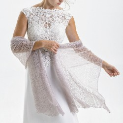 Etole tricotée fil dentelle
